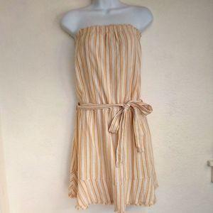 Anthropolgie Cloth & Stone Yellow  Mini Dress